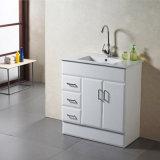 Mobília baixa branca do toalete do MDF, gabinetes de banheiro de madeira