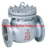Válvula de retenção de aço inoxidável de placa dupla carregada com mola (H76)