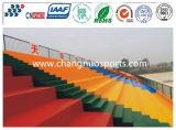 Plancher durable de région de loisirs de couleur pour les sites d'intérieur ou extérieurs