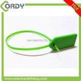 Etiqueta de la atadura de cables de la etiqueta RFID del sello del cable de RFID para la gerencia del equipaje