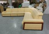 Neues Form-Leder-Sofa der Ankunfts-U mit Bett (GA1030)