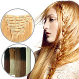 7A Cheap Menschenhaar 100% Blonde Klipp in Hair Extensions