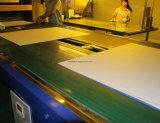 緑色の上塗を施してあるオフセット印刷の版、PSの版