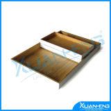 Bandeja de servir de bambu lacada ecologicamente correta