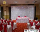 cortina blanca encendida LED de la estrella de la cortina LED del contexto de la etapa de los 4*6m