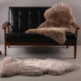 Natürliches australisches Schaffell-Doppelt-Haut-Fußboden-Teppich-Sofa-Kissen