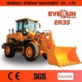 Nuova costruzione di Everun un caricatore da 3 tonnellate con la barra di comando