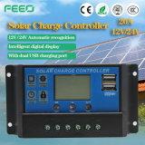 Inteligente PWM 30 Amper 12V24V Solar Controller Charger 20A LCD