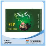 Neue Entwurfs-Chipkarte-Besuchskarten-transparente Visitenkarte