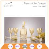 Bottiglia di vetro decorativa di arte