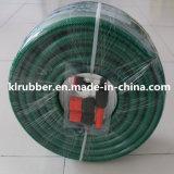 Tuyau de jardin flexible de vente chaud de PVC avec l'ajustage de précision rapide