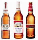 Glasalkohol-Flaschen-bernsteinfarbige Bier-Glasflasche anpassen