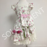 Cotone Flower Girl Dress /Children Clothing con Bag (KDR-05)