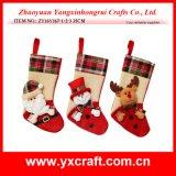 Décoration fabriquée à la main de chaussure de cadeau de chaussette de Noël de remplissage de bas de Noël de support de cadeau de Noël