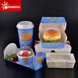Boîte de papier imprimée par marque faite sur commande à hamburger