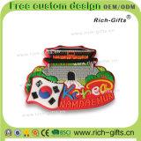 Magneti promozionali personalizzati liberi Corea (RC-KA) del frigorifero del ricordo del PVC dei regali 3D di disegno