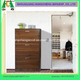 Projeto de madeira do gabinete da sapata da sala de visitas