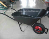 プラスチックTray WheelbarrowかSteel HandleのWheel Barrow (WB6600)