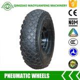 rodas do caminhão de mão de 10inch Qingdao com as bordas plásticas do metal
