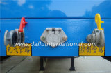 3 Semi Aanhangwagen van de Zijwand van assen de Verticale Golf Blauwe Standaard met Rechte Straal