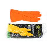 Перчатки померанцового латекса перчаток домочадца резиновый дешево