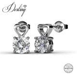 Cristal de la joyería del destino del anillo y de los pendientes pendientes fijados de Swarovski especialmente