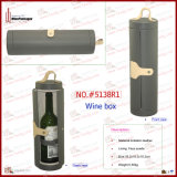둥근 New Design 1 Bottle Leather Wine Carrier (5138R1)