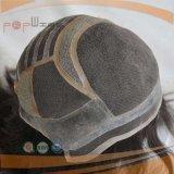 최고 급료 PU 실리콘 둘레 단청 실크 최고 Breathable 쉬운 착용 가발