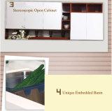 2017 diseños blancos y negros de la cabina de cocina de la melamina (zg-017)