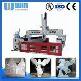 router de madeira do CNC da máquina de estaca do metal do cambiador de ferramenta 4axis automático