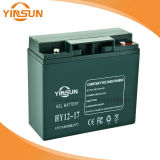 bateria acidificada ao chumbo recarregável de 12V 17ah com terminais de cobre contínuos para o equipamento de comunicação