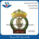 カスタムロゴの金属のトロリー硬貨のキーホルダー