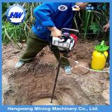 taladro portable de base del morral de la profundidad de los 80m/equipo de mano de la perforación de roca del oro