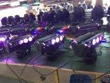 Pista móvil de la etapa de la luz 8LEDs 10W RGBW 4in1 LED de la viga ligera superventas de la araña
