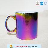 dunkle Streuung-Kaffeetasse des Öl-11oz mit Prägung-Abziehbild