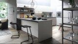 台所製品が付いている灰色のメラミン食器棚