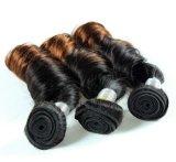 Cor misturada de tecelagem do cabelo humano da onda de África do cabelo do Virgin
