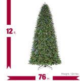 12 FT. Árvore de Natal artificial do abeto do diodo emissor de luz Monterey do Pre-Lit com luzes em mudança da cor (MY100.076.00)