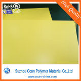 Película de color amarilla rígida del PVC para la impresión plástica de la escritura de la etiqueta