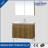 Meubles modernes de salle de bains de mélamine simple avec le miroir