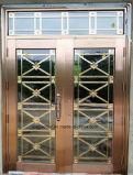 Economical interior de madera redondeada MDF Puerta de PVC (EI-P057)