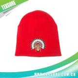 Relativo à promoção simples preto feito malha/chapéu Beanie do Knit/tampão (008)