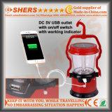 Solar del enchufe USB de 8 LED de luz de camping linterna LED de 1W