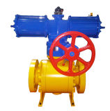 Monté en acier forgé API Tourillon Ball Valve Three Piece Valve Body
