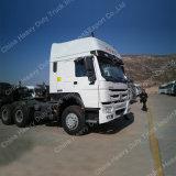 SinoトラックHOWO 336HP 6X4の牽引ヘッド、トラックのトレーラーのためのトラクター