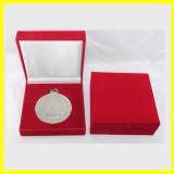 Caixa de papel retangular azul para medalhas