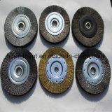 용접을%s 최신 판매 세로 침목에 의하여 매듭을 짓는 철사 바퀴 분쇄기 솔