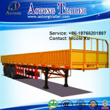 Wall lateral Open 3 Axles 40t Flatbed Special Vehicle Semi Trailer Truck (LAT9380T)