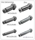 Schraube der Dynamicdehnungs-M12 Boxbolt für Baustahl
