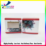 Color quadrado Printing Cosmetic Packaging Box com Clear Window